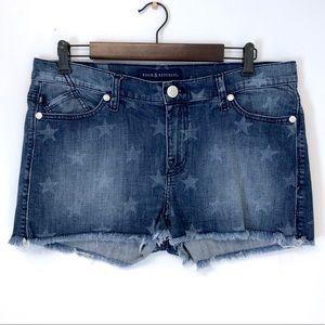Rock & Republic | Lolita faded stars jean shorts